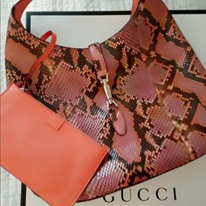 Gucci Snake skin hobo purse